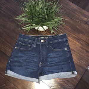 Express super High Rise Jean Shorts